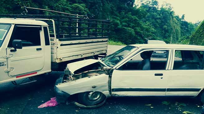 Three vehicle damaged in accident in NH-415, 3 injured