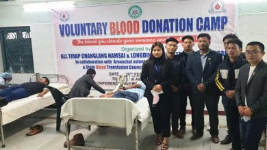 Arunachal: Blood Donation by Tirap, Changlang, Namsai and Longding students
