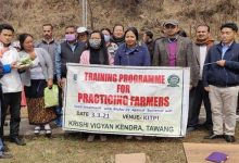 Arunachal: Training for Practicing Farmers of Kyidphel held
