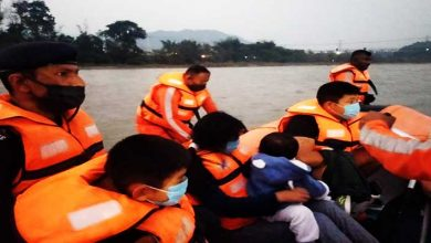 Arunachal: NDRF rescued 4 of a family stranded in Dikrong River