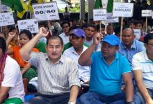 Bodos Organises Crying Event in support of Bodoland