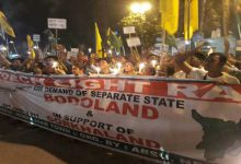 Torch Light Rallies in support of Bodoland and Gorkhaland